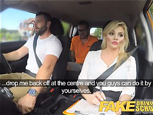 fake Driving school handsome huge-chested posh blond examiner