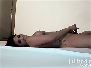 London Keyes toying with her fake penis