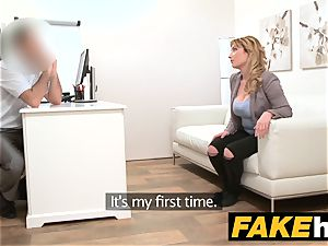 fake Agent Spanish babe with huge breasts get good fuckin'