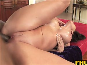 Fhuta huge-chested milf penetrated by a thick ebony