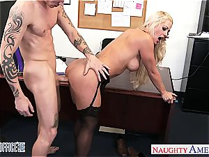 sweetheart Holly Heart ultra-kinky for cock while at work