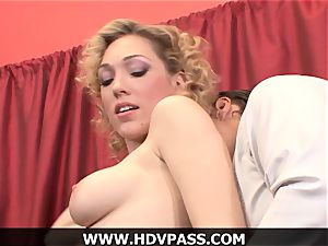 ash-blonde housewife Lily luvs HD deep throat and from the rear