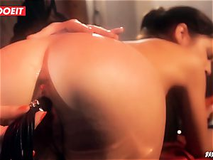 LETSDOEIT - Lullu Gun ejaculates rock hard In nasty domination & submission Session