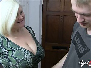AgedLovE big-chested Mature Lacey Starr hard-core lover