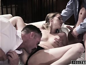 pure TABOO babe Tricked Into vengeance threesome with Strangers