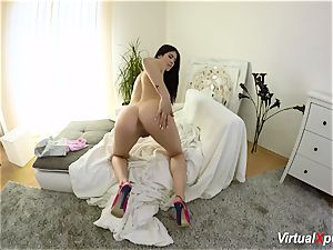unshaved busty Angel Wicky on web cam