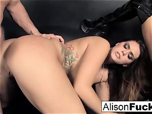 3-way hardcore energetic fucky-fucky with Alison