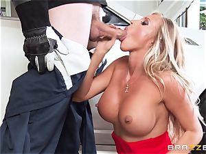 molten wife Samantha Saint pounds her hubbies step-brother