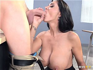 huge-chested educator Ava Addams is pounded by her college girl