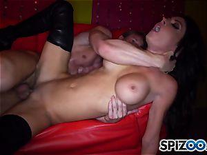 stunning stripper Jessica Jaymes rails her customer firm