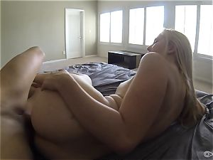 towheaded bikini babe Samantha Rone licking and dicking