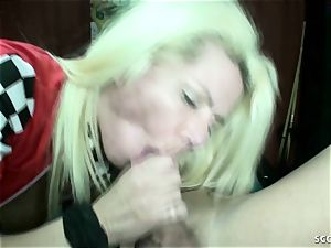 GERMAN mommy Lost Bet And Let Him pulverize Her In PlayArea