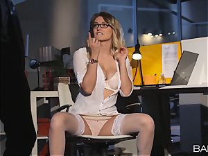 Natalia Starr boned by the night security guard