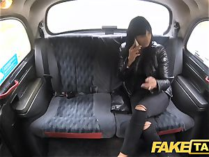 fake cab sugary-sweet super-hot dark-haired loves Czech man rod