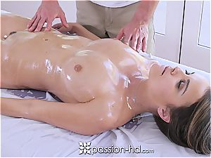 Passion-HD - Dillion Harper moist massage with facial cumshot