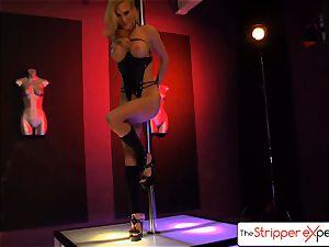 The StripperExperience- Sarah Jessie plumbing a hefty man-meat