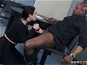 Angela white gets her gigantic innate juggs rocked