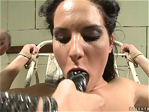Bettina DiCapri and Mandy Bright fuck stick deep-throating